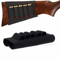 Airsoft Rifle Hunting Tactical Shotgun Pouches 5 Butt Cartridges Stock Shell Holder Elastic Fabric Ammunition Carrier Newest 1