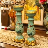 Poezja Shikai Rui Banku Europejskiej Sztuki Ceramiczne Wyposażenie Domu prezent ślubny dekoracyjne świecznik Duszpasterska Amerykańska