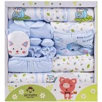 Newborn Baby Thicken Warm Clothing Set Gift Set 18 Pieces 100% Cotton Infant Underwear Suits Toddler Clothing Set