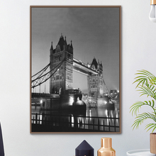 London Tower Bridge Nordic Posters And Prints Wall Art Canvas Painting Black White Pictures For Living Room Bedroom Decor