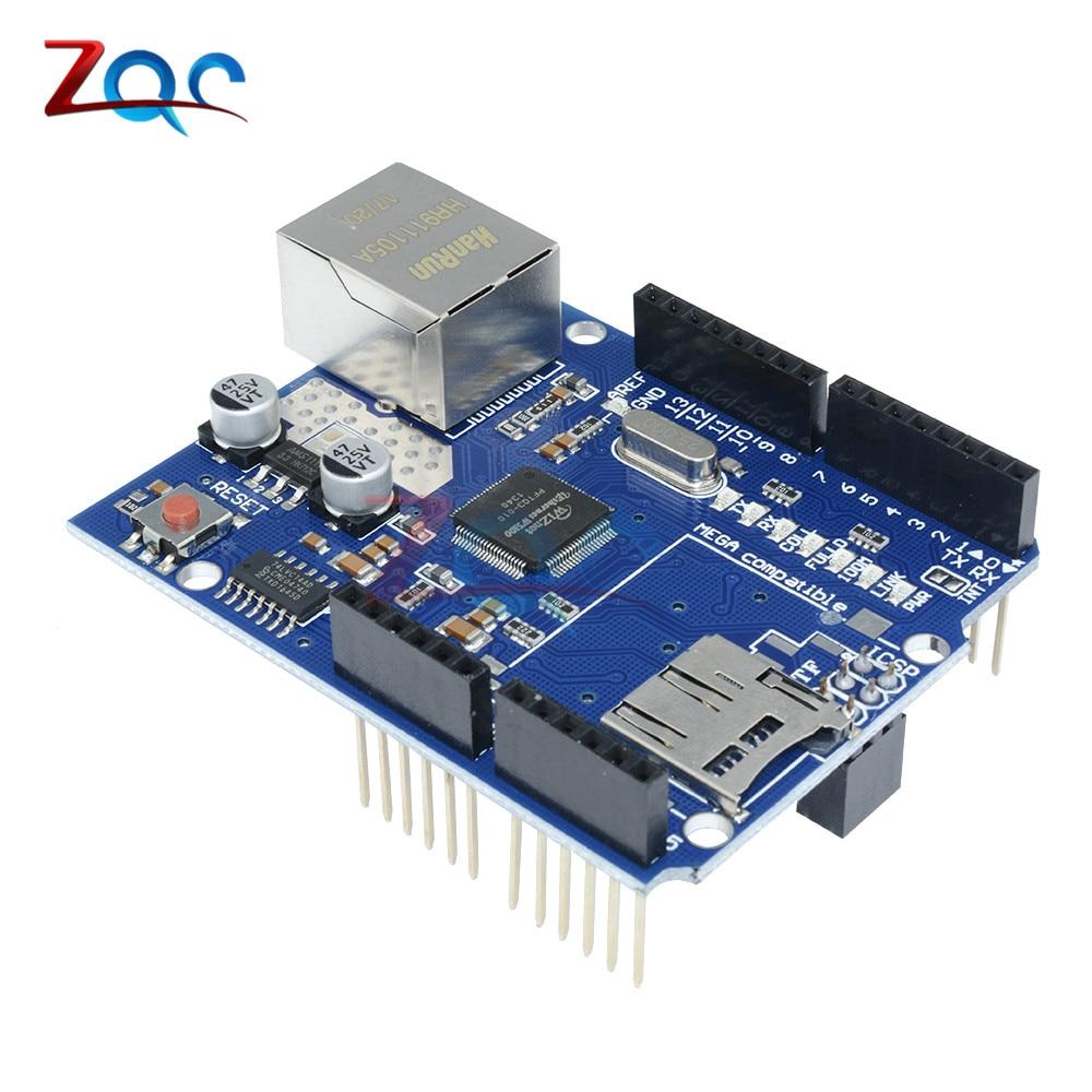 UNO Shield Ethernet Shield Wiznet W5100 Mega 2560 1280 328 UNO R3 W5100 Development Board FOR Arduino Micro SD Card one  - buy with discount