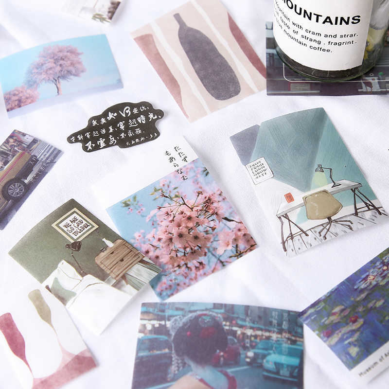 XINAHER 40 adet/torba vintage antetli seyahat Manzara kağıt etiket paketi DIY günlüğü dekorasyon çıkartması albümü scrapbooking