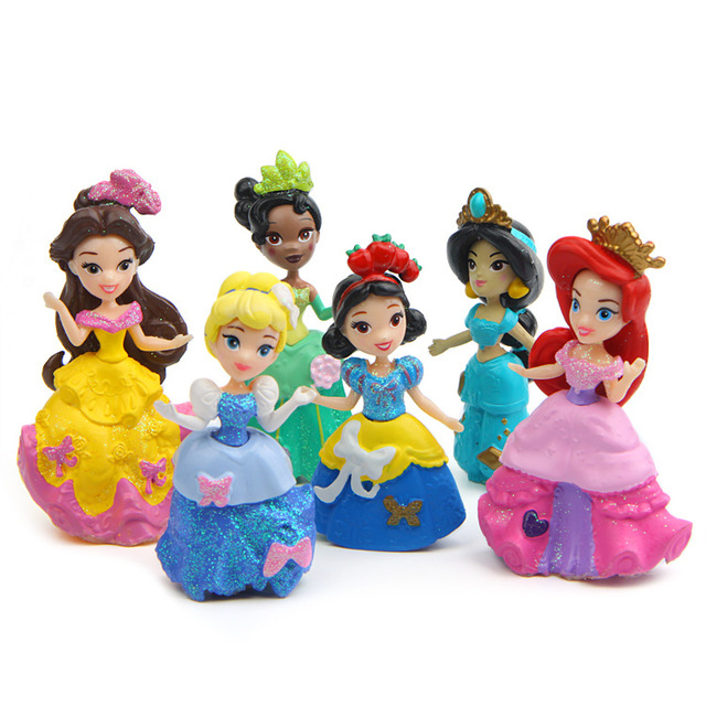 Disney Princess PVC Cake Toppers (Set of 6)