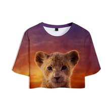 2019 NEW Film glory kingdom King The Lion Simba 3D Tops Crops Girl t-shirt Short T shirt Women Sexy Sale Casual Clothes