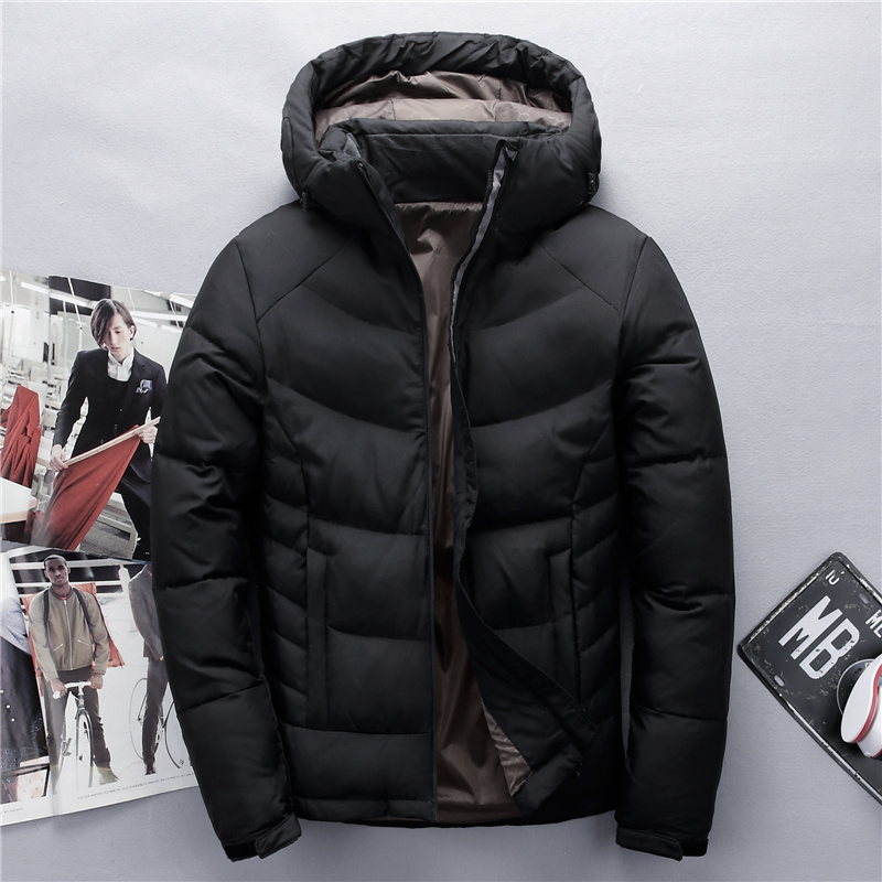 Tace & Shark Brand Male   Down   Jacket Thick Hooded Windproof Winter jacket men Warm Snow   coat   Casual Men Clothing 2018 Plus Size