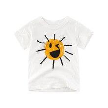где купить 2019 new children clothing T-shirt short-sleeved summer baby boy cotton Tops cartoon sun printing pattern T-shirt kids clothes по лучшей цене