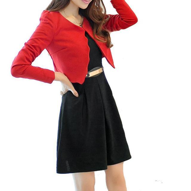 2016 Uniformes Ternos Das Mulheres de Negócios Longo-Luva Casacos Vestido de Duas Peças Conjunto De Blazer Vestido Feminino
