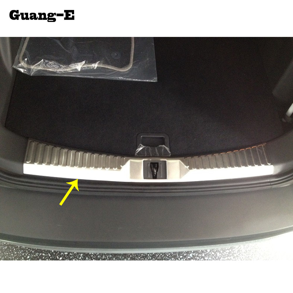 Car Cover Stainless Steel Inner Rear Bumper Protector Trim Plate Lamp Threshold Pedal 1pcs For Ford Kuga 2013 2014 2015 2016-in Chromium Styling from Automobiles & Motorcycles on YiBen Autoparts Store