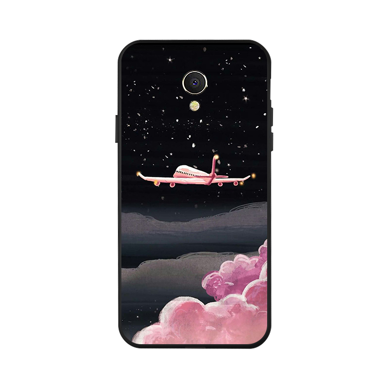 Ojeleye Fashion Black Silicon Case For Meizu MX6 Cases Anti knock Phone Cover For Meizu MX6 M681Q Covers in Fitted Cases from Cellphones Telecommunications