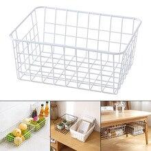 Wrought Iron Storage Basket Japanese Style Kitchen Bathroom Case  Hot Sale