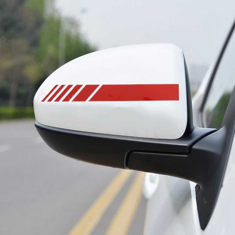 2 Pcs Auto Styling Auto SUV Vinyl Sticker Achteruitkijkspiegel Side Decal forFord Transit Ranger Mustang Ka Fusion Focus F-150
