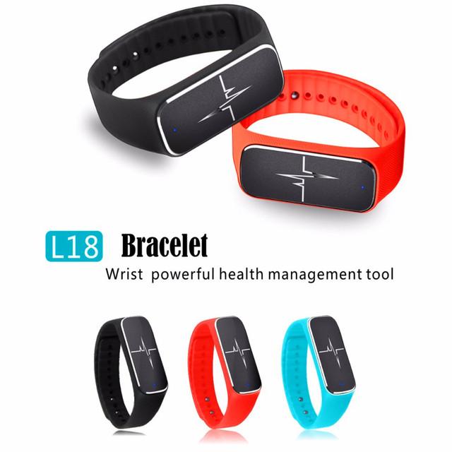 Mais novo 37 graus L18 Bluetooth 4.0 Inteligente Pulseira Relógio Pressão Arterial e Freqüência Cardíaca Rastreador Estado de Fadiga para Telefones Android iOS