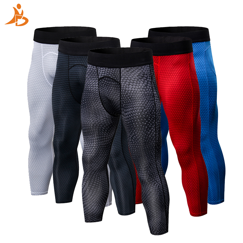 4/3 Hommes de Sport Pantalon Noir de Basket-Ball Gym Pantalon Respirant Tight Bodybuilding Jogging Maigre Leggings hommes Courir Pantalon