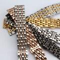 Браслет из нержавеющей стали, твердого металла ремешок Бабочка пряжка смотреть strap14 16 18 20 22 мм наручные часы band черный серебро золото
