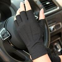 Auto Rijden Handschoenen Zomer Anti-Uv Handschoenen Mannen half vinger handschoenen Dunne Zweet Absorptie Ademend Antislip Drive Hand Protector