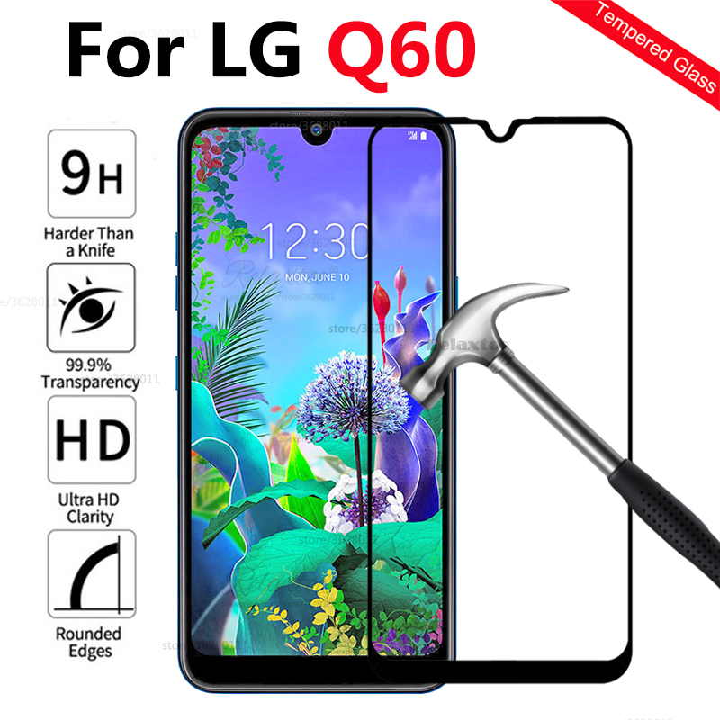 case on For LG Q60 Full cover Tempered Glass For LG Q60 Q 60 lgq60 cover case couqe For LG q60 Protective Protection touch glass image