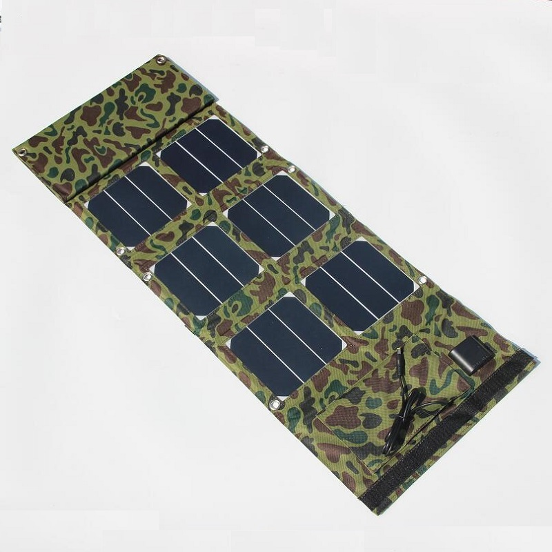 BUHESHUI Foldable Sunpower 40W Solar Panel Charger Dual USB 5V+DC18V Output For Mobile Phones Laptops High Quality Free Shipping hot portable 40w solar panel charger mobile phone charger power bank usb 5v dc18v dual output for 12v battery charger 2pcs lot