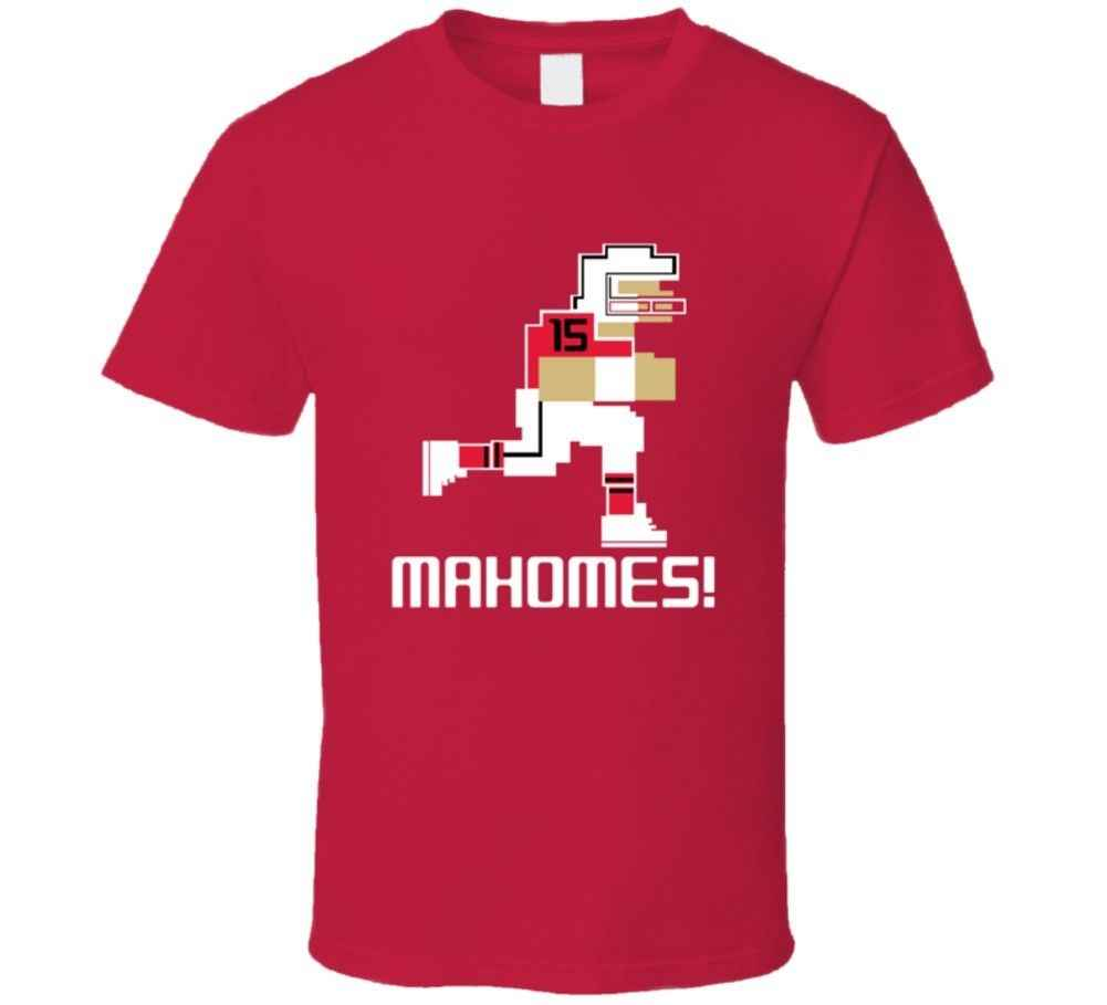 cda1d2c6af5 Patrick Mahomes # 15 Tecmo Bowl Kansas City Football Athlete Fan T Shirt  Cool Casual pride