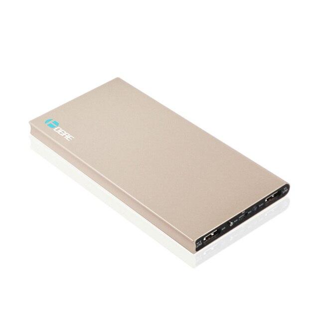 DCAE Ультра-тонкий Мобильный Банк питания 10000 мАч металлический корпус свет USB Внешняя Батарея Резервного Копирования Портативный универсальный Телефон зарядное устройство