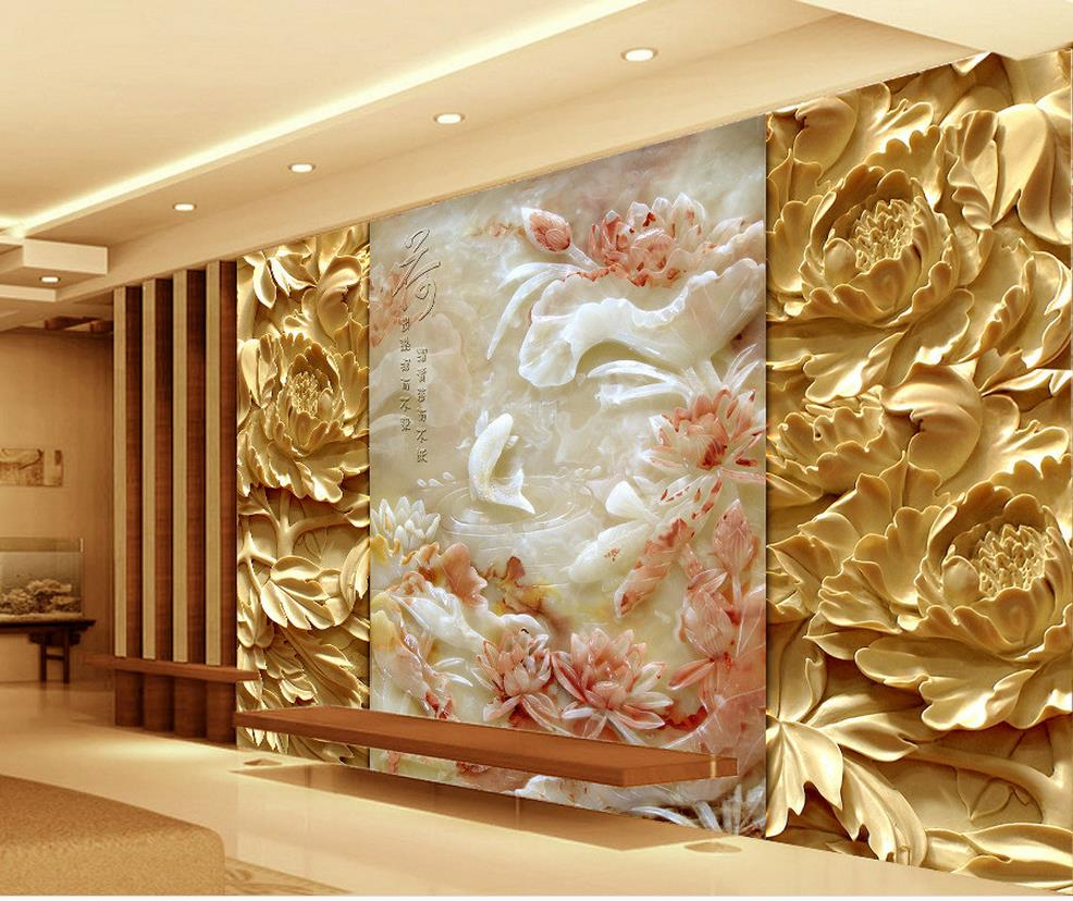 D name wallpapers wood carving jade reliefs peony