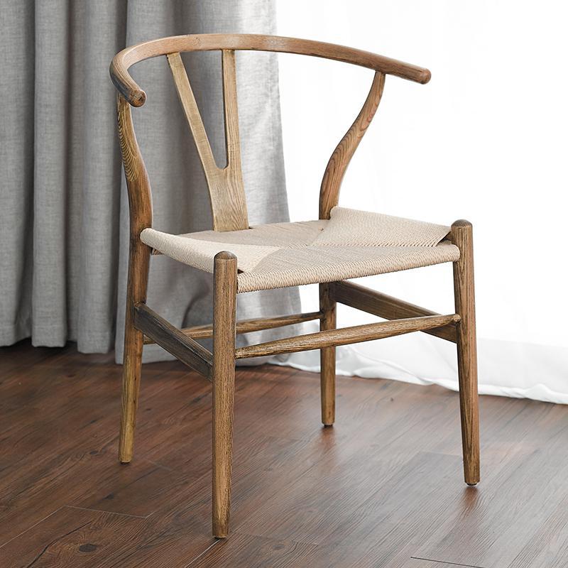 Скандинавский современный из натурального дерева простой обеденной стул из ясеня для отдыха дома спинка деревянного кресла Кеннеди китайский стиль Y стул - Цвет: style 9