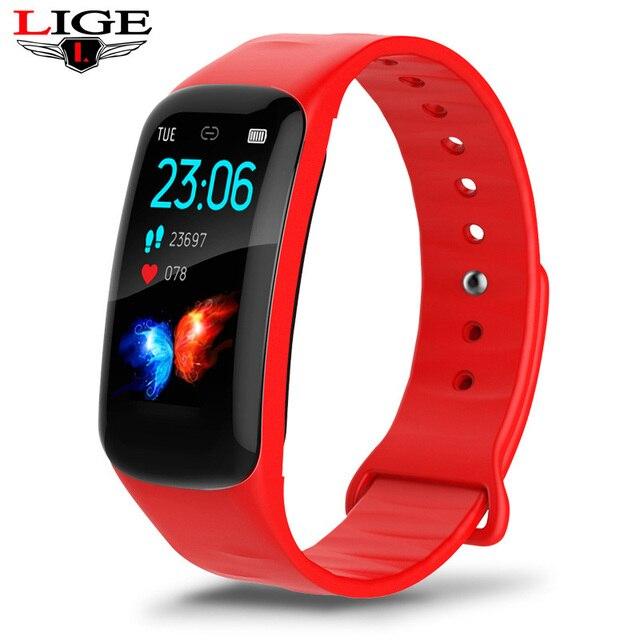 Aptidão Da Mulher Pulseira inteligente Pulseira LIGE Pressão Arterial Heart Rate Monitor Pedômetro Relógio Inteligente Homens se adaptar para o Android e IOS