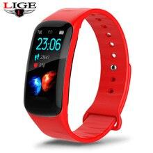 Pulsera inteligente LIGE mujer Fitness pulsera presión arterial Monitor de ritmo cardíaco podómetro reloj inteligente hombres se adaptan a Android e IOS