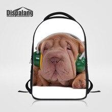Dispalang мужчин и женщин ноутбук рюкзак Mochila собака животных печати школьные сумки для подростков дорожные сумки большой Ёмкость сумка