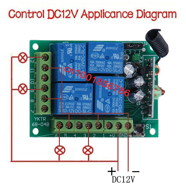 Dc12v 10a 4 Channel Rf Wireless Remote Control Relay Switchradio System Receivertransmitterin Switches From Lights Lighting On Aliexpress Alibaba: 4 Channel Momentary Remote Wiring Diagram At Eklablog.co