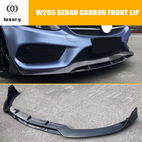 W205 C43 AMG углеродного волокна B Стиль передняя губа для Benz W205 C180 C200 C300 C43 с Amg посылка седан 4DR 2015 2018 (без C63)