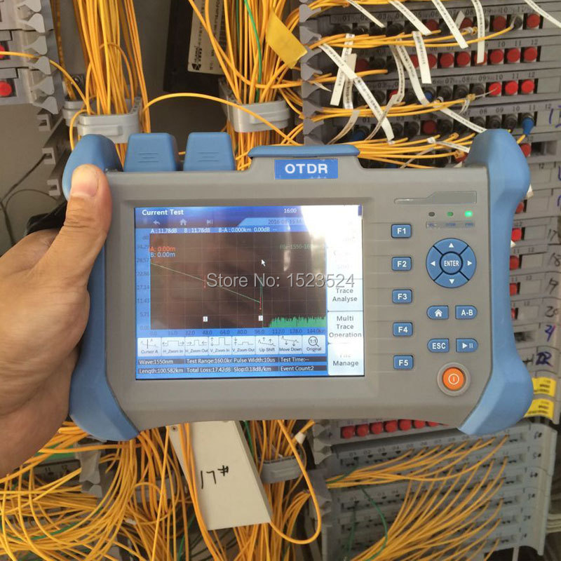 Singlemode 1310/1550nm 32/30dB Built In VFL Optical Time Domain Reflectometer Fiber Optic OTDR 120km