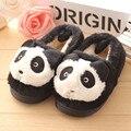 2016 Маленькие дети 1-4 лет зима новый милый Мультфильм 3d panda toddle обувь childrencotton тапочки хлопка младенца обувь