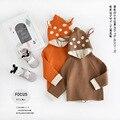 Novo além de veludo inverno crianças jaquetas Pouco Veados meninos meninas engrossar crianças casaco de Lã Com Zíper outerwear moda bebê bebe com capuz
