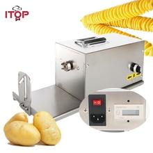 ITOP 3в1 коммерческий Электрический слайсер для спиральной нарезки картофеля витой нож для спиральной нарезки картофеля фри фрезы 110 В 220 В
