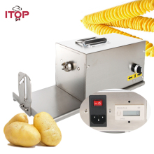 ITOP Commercial Electric Tornado Potato Slicer 110V 220V Twisted Vegetable Cutter HE03