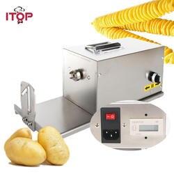 ITOP 3in1 коммерческий Электрический торнадо картофель слайсер витой овощей картофеля спираль резак фри резаки для SIM карт 110 В 220