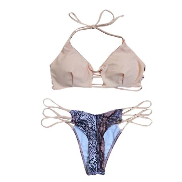 db73df10fe8cc 2017 Sexy Brazilian Tanga Thong Bikinis Padded Swimsuit Women String Push  Up Swimwear Beach Bathing Suit Maillot De Bain Femme