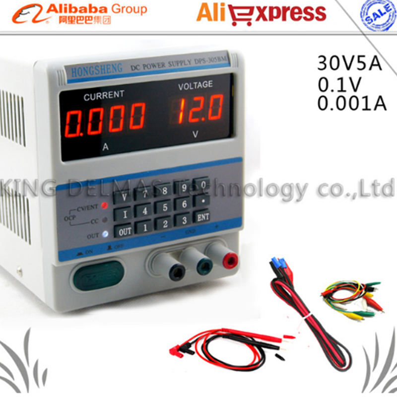 High Efficiency Digital  Adjustable Control 30V 5A DC Voltage Regulated Power Supply DPS-305BM for Laptop nc dc dc dc adjustable voltage regulator module integrated voltage meter 8a voltage stabilized power supply