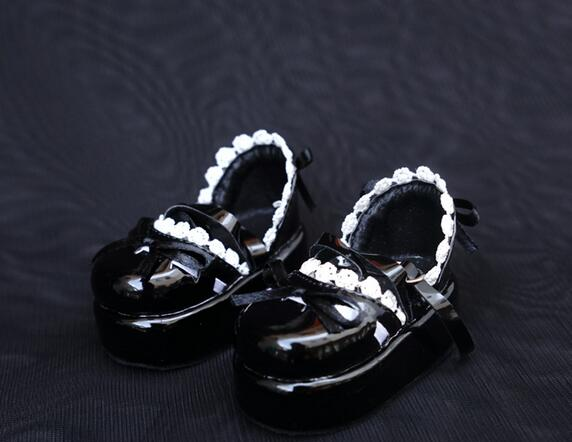 NEW 1/4 1/6 BJD MSD YOSD Doll Shoes black Lace Bowknot Casual Shoes/Single shoes new 1 3 sd17 uncle id eid sd msd bjd doll shoes 4 styles handsome black martin boots