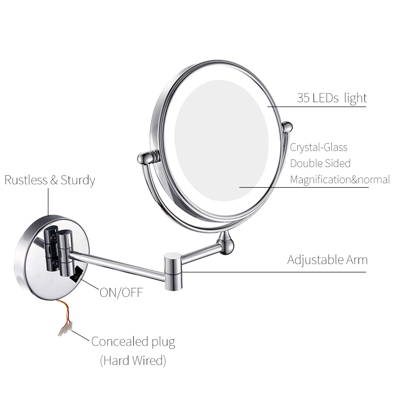 Chrome Vanity Cosmetic Mirrors
