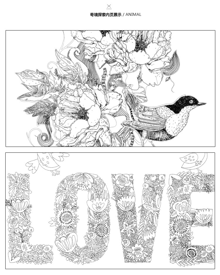 Aliexpress Buy Wonderland Exploration Book Coloring Books For Adult Kids Painting Antistress Mandala Secret Garden Drawing 185185cm 24Pages From