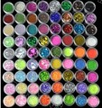 New 72 Pots 6 Kinds of Nail Glitter Powder Art Decoration Crush Shell Bead BEMLP