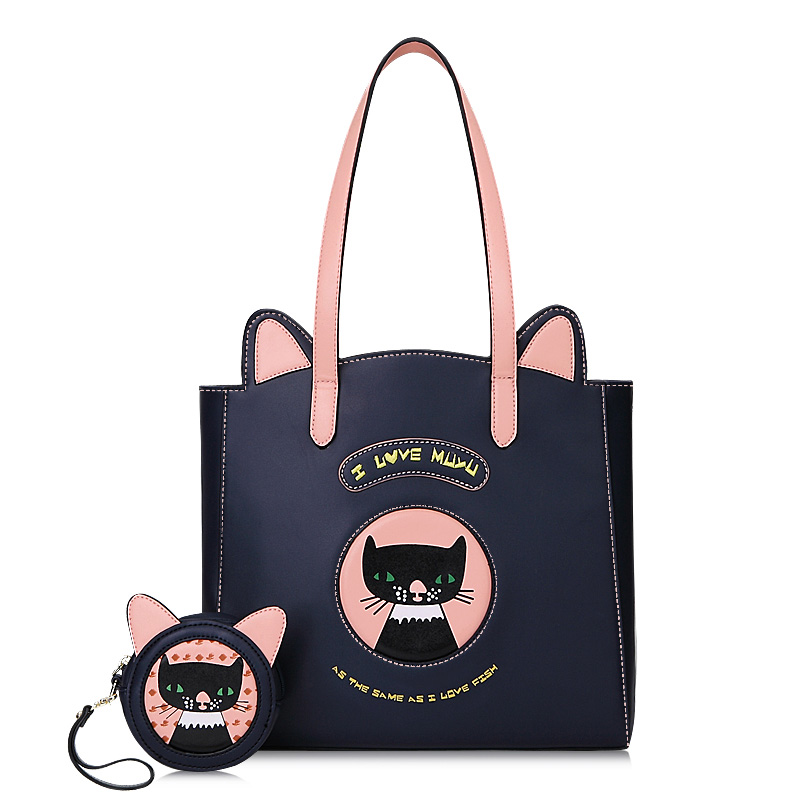 New Fashion Women Handbags With Coin Purse Ladies Shoulder Messenger Bags Luxury Famous Brand Large capacity Tote Cartoon Bags luxury handbags large capacity shoulder bags purse female famous brand lady tote bag shopping office real leather messenger bags