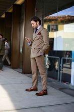 2017 Latest Coat Pant Designs Brown Men Suit Jacket Slim Fit 2 Piece Tuxedo Groom Style Suits Custom Prom Blazer Terno Masculino