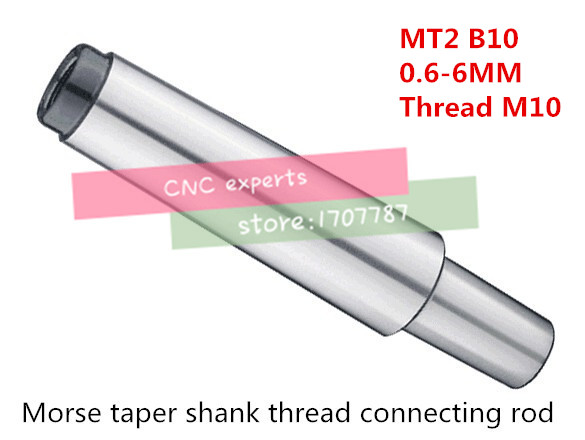 Reducing Drill Sleeve MT2 to B10 Morse Taper Shank Drill Chuck Arbor Drilling Lathe Machine Capacity 0.6-6mm End Thread 10mmReducing Drill Sleeve MT2 to B10 Morse Taper Shank Drill Chuck Arbor Drilling Lathe Machine Capacity 0.6-6mm End Thread 10mm