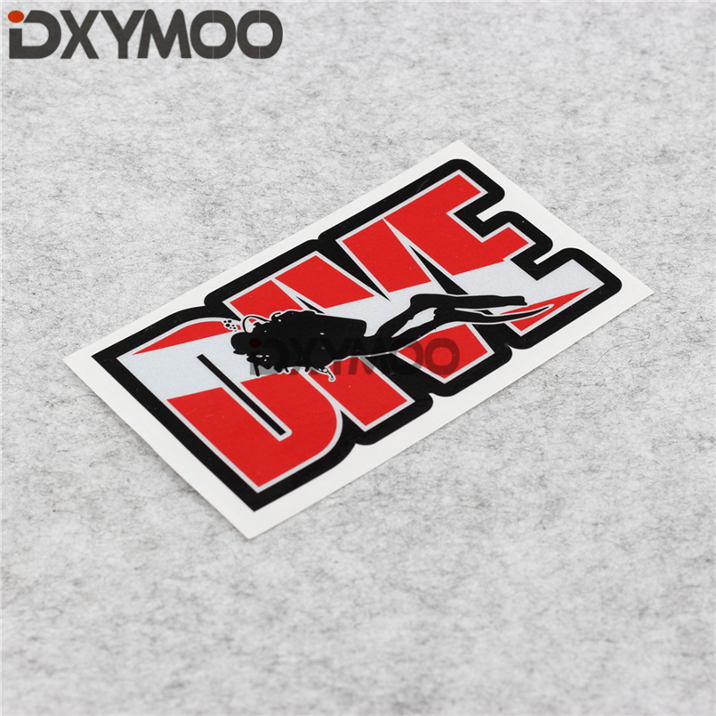 Car Styling Decals Water Sports Scuba Dive Car Oil Tank Window Stickers 3M