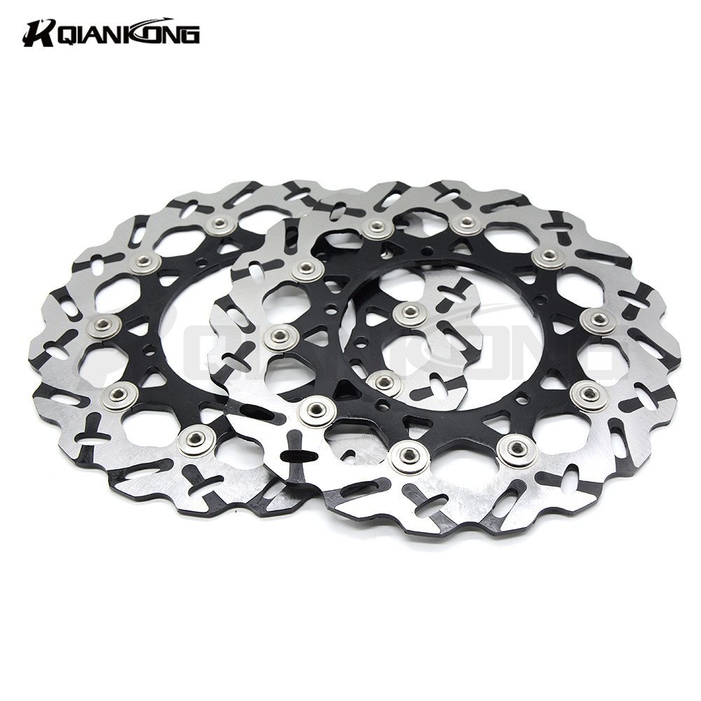 Motorcycle Accessories Stainless Steel Front motorcycle disc brake rotors For YAMAHA YZF600 R6 2007-2012 YZF1000 R1 2007-2013 motorcycle accessories brake rotor moto brake disc rotors for yamaha yzf600 yzf 600 r6 2003 2004 2005 2006 yzf1000 r1 2004 2006