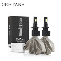 GEETANS 2PCS Set H4 H7 Led Car Headlight 9005 H11 880 Driving Lamp Bulb Car External