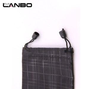 Image 5 - LANBO 100 개/몫 안경 케이스 소프트 방수 격자 무늬 천으로 선글라스 가방 안경 파우치 블랙 컬러 도매 좋은 품질 S11