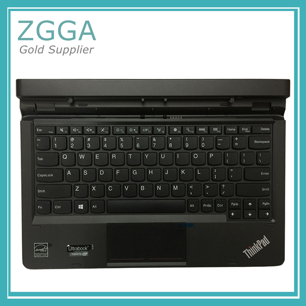 Genuine Keyboard Dock For Lenovo ThinkPad Helix Gen 2 20CG 20CH Ultrabook English US Laptop Case 00JT750 genuine new for lenovo thinkpad x1 helix 2nd 20cg 20ch ultrabook pro keyboard us layout backlit palmrest cover big enter